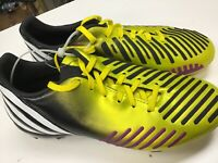 New Without Box Adidas Predator FG Yellow / Black Soccer Cleats Size 3y NWOB