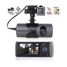 DVR AUTO CON DOPPIA TELECAMERA GPS SENSOR REGISTRATORE VIDEOCAMERA MONITOR R300