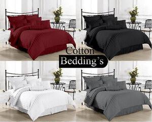 UK King & Super King Sizes 1200 1000 800 TC Egyptian Cotton Sheet Set/ Duvet Set