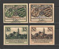 German NOTGELD SONDERSHAUSEN #L1211a INcomplete Set 1 UNC BROWN PRINTING $25+