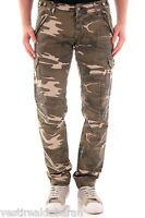 Jeans Uomo Pantaloni Stile Militare ABSOLUT JOY Camouflage C245 Tg S M XL