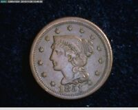 1851  Braided Hair Large Cent 1c old penny ( 43s138 )