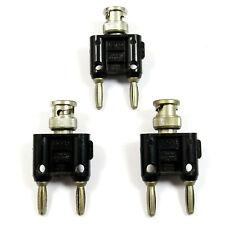 3 Piece Lot Pomona 1270 Bnc Male To Dualdouble Banana Plug Adapter Connector