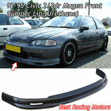 Mu-gen Style Front Bumper Lip (Urethane) Fits 92-95 Honda Civic 2dr