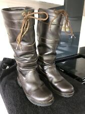 HKM Waterproof Leather Country Riding Boots Dark Brown Size 6/39
