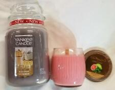 Yankee Candle Large Jar Holiday Shimmer & Pure Radiance Small Crackling Guava