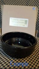 "New Listing8x Longaberger Pottery Stackable 6"" Bowl Ebony Woven Traditions Usa"