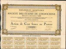 Société des ETAINS de l'INDOCHINE (INDOCHINE) (U)