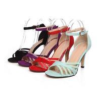 New Women's Ladies High Heel Stilettos Shoes Pumps Ankle Strap Sandals Plus Size