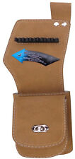 TAN SUEDE LEATHER SIDE/HIP QUIVER WITH POCKET ARCHERY PRODUCTS AQ142-RIGHT HAND