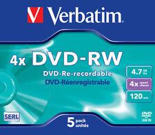 Verbatim DVD-RW 4.7gb 4x Jawel Case 5pz