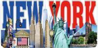 New York World Trade Torre de la Libertad Placa Metal 30cm, Recuerdo