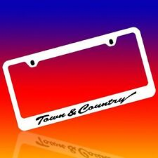 CHRYSLER TOWN & COUNTRY GENUINE ENGRAVED CHROME LICENSE PLATE FRAME TAG HOLDER 1