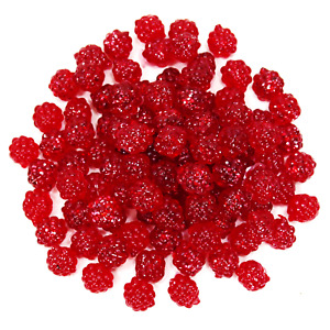 """1/2"""" Imitation Egg Clusters Sac 100/pack Ruby Red Sparkle Fishing Bait _56-21B"""