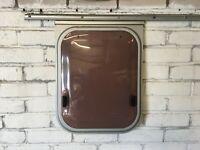 Mid 90's Elddis Caravan Double Glazed Opaque Toilet Window 400mm x 525mm Ellbee