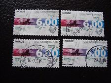 NORVEGE - timbre yvert et tellier n° 1250 x4 obl (A30) stamp norway (A)