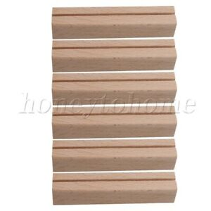6pcs Smooth Wood Card Holders 25mm for Office, Home, Hotel Decoration