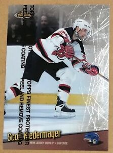 1998-99 SCOTT NIEDERMAYER TOPPS FINEST WITH PROTECTOR CARD#120 NEW JERSEY DEVILS