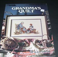 LEISURE ARTS COUNTED CROSS STITCH LEAFLET PATTERN 2215 GRANDMA'S QUILT 1991