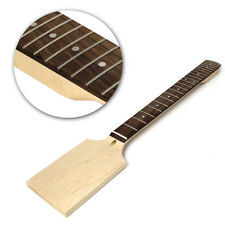 1Pc Electric Guitar 22 Fret Neck Paddle Head Maple Wood Bolt Unfinished new
