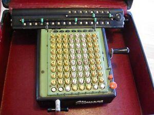 Vintage Monroe Adding Machine Calculator Model LX-160 + Carrying Case