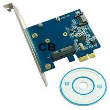 Nuevo Disco Duro SATA 3 III & SSD de MSATA 3 III Expansión PCI-E Tarjeta Adaptador placa convertidora