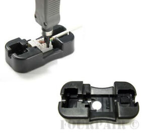Keystone Jack Punch Down Stand Holder for 110 Blade Wire Cable Tool RJ45 RJ11