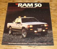 Original 1988 Dodge Ram 50 Pickup Truck Deluxe Sales Brochure 88