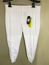 Easton Womens Baseball Pro Pants All White Size L A164147 Knickers Scotchguard