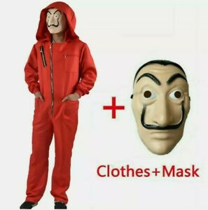 Salvador Dali The House of Paper La Casa Cosplay Money Heist Costume & Face Mask