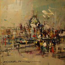 De Cerce Bruno-Venezia- Dipinto Originale olio su tavoletta 50x50
