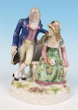 Antico Meissen Porcellana Gruppo Statuina 183 Gentiluomo Caller Goesch 1st