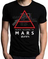 30 Thirty Seconds To Mars Glyphic Symbol Logo Band Men T Shirts Black