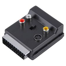 Switchable Scart Male to Scart Female S-Video 3 RCA Audio Adapter Convertor BE