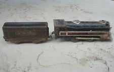 Marx Engine locomotive & New York Central tender