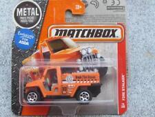 Matchbox 2017 #074/125 INCENDIE HARCELEUR orange MBX Héroïque Secours Boîtier A
