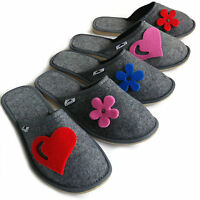 Ladies Women's Girls Slip on Mule Slippers Home Guest Travel  Size 3 4 5 6 7 8