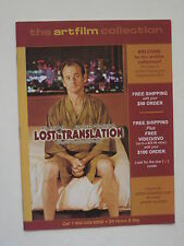 Catalog The Art Film Collection - 2004 - Bill Murray photo cover