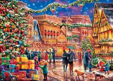 """Christmas """"Village Square"""" Jigsaw 1000 Piece Puzzle by Master Pieces"""