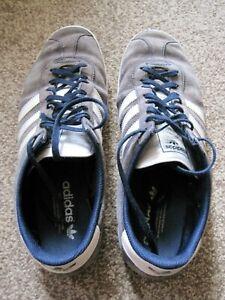 Adidas Gazelles. men's, size 10, navy, well worn.