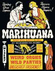 """1936 Marihuana Weed With Roots in Hell Poster Art Print 8.5"""" x 11"""" Reprint RETRO"""