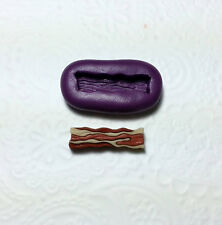 Silicone Mold Bacon Mould (21mm) Dollhouse Miniature Sweets Fake Food Jewelry