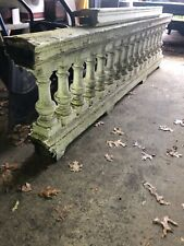 """c1890 porch balustrade 100"""" x 27"""" x 7.5"""" HUGE BEEFY urn style spindle 15.5 x 5.5"""