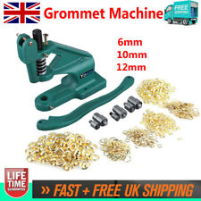 Heavy Duty Upgraded Eyelet Machine Punch Presser Tool+ 3 Die Setter 900 Grommets