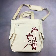 Picnic Time Picnic Bag Beige With Red Floral Design Insulated Waterproof Cooler