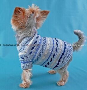 Dog clothing Puppy sweater, Pet clothes Dog knit cap sweater set, Yorkshire Terr