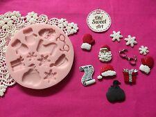 Christmas Santa Claus gifts Silicone  Mold Food cake  Decoration Cupcake (FDA)