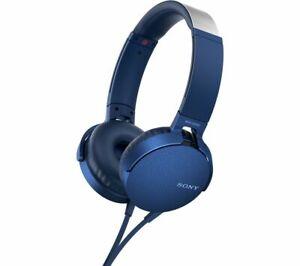 Sony MDR-XB550AP Extrabass Headphones - Blue