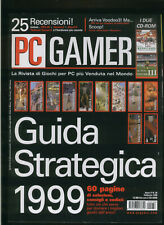 PC GAMER 1999 guida strategica,half life,grim fandango,sin,tomb raider3,railroad