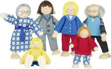 Biegepuppen City FAMILIE Holz 6 teilig Biegepüppchen Holzbiegepuppen Puppenhaus